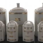 Uromas antike Aufbewahrungsgefäße für Nudeln, Reis,  Zucker und mehr aus Porzellan