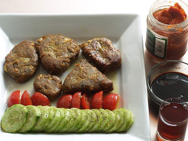Kichererbsentempe-Bratlinge